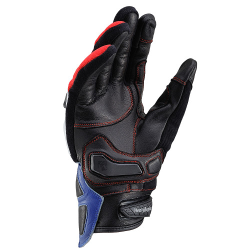 Henly Begins Carbon Protector Motorcycle Gloves All Season, Tricolor