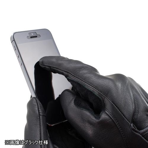 Goat Skin Motorcycle Gloves HBG-009, Standard, Black