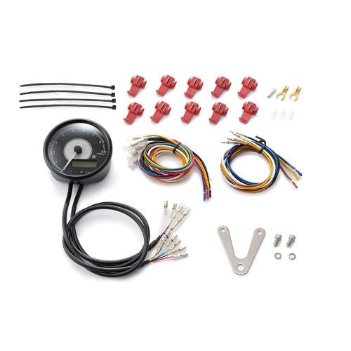 Daytona Velona80 Tachometer & Speedometer, 80mm, 9000rpm, Black with White LED