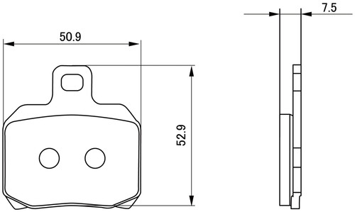 Golden Brake Pad Set, (R), Ducati 999S (02)