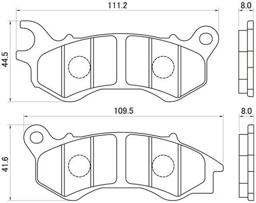 Golden Brake Pad Set, (F), Honda PCX (JF28/JF56) (10-17)