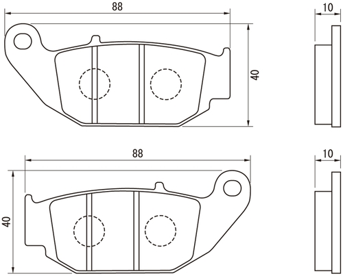 Golden Brake Pad Set, (R), Honda Grom (13-17)