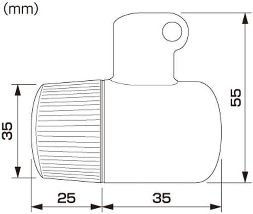 Daytona (Japan) Motorcycle Turn Signal, Small Blinker Set, Black