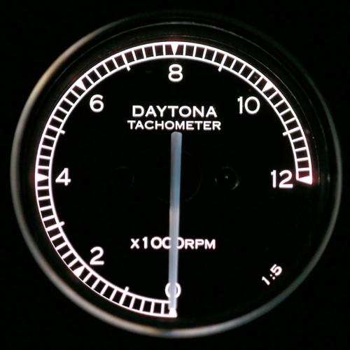Mini Tachometer, 12000rpm, Black, White LED