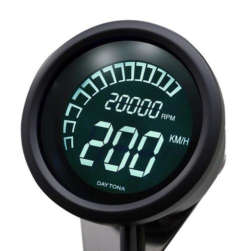 VELONA Digital Speedometer and Tachometer with Bracket, Black