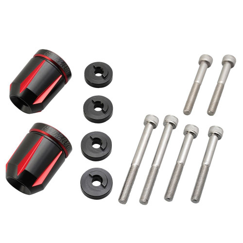 Premium Zone Bar End Caps, Plug, Scratch Type for Honda M6, Red