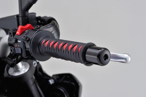 """GrippyGrip, GGD-Katana Type, Open End, 125mm, 7/8"""" Handlebars, Black & Red"""