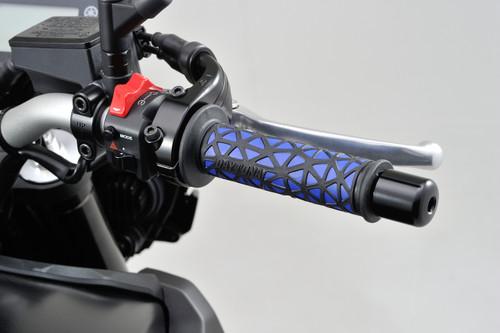 """Daytona GrippyGrip, GGD-Cell Type, Open End, 125mm, 7/8"""" Handlebars, Black & Blue"""