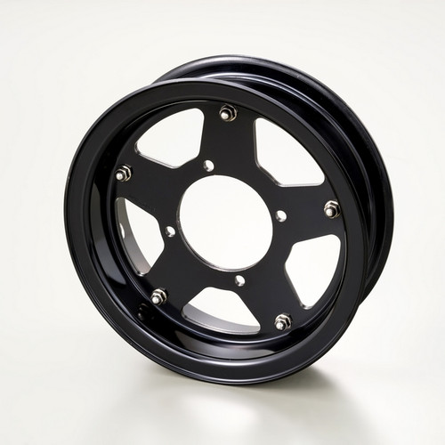 Aluminium Wheel, 5 spoke, Black, 8 x 2.5J