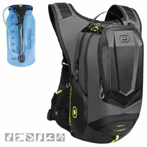 Ogio Dakar 3L Hydration Pack, in black colourway - comes with a 3L bladder