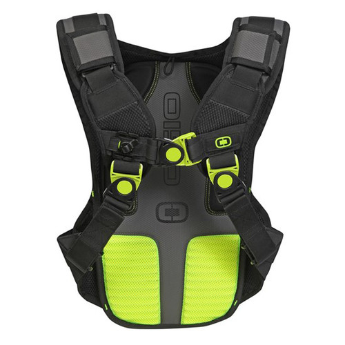 Ogio Baja 2L Hydration Pack, in black colourway, has a multi-adjust harness system designed for easy maneuverability
