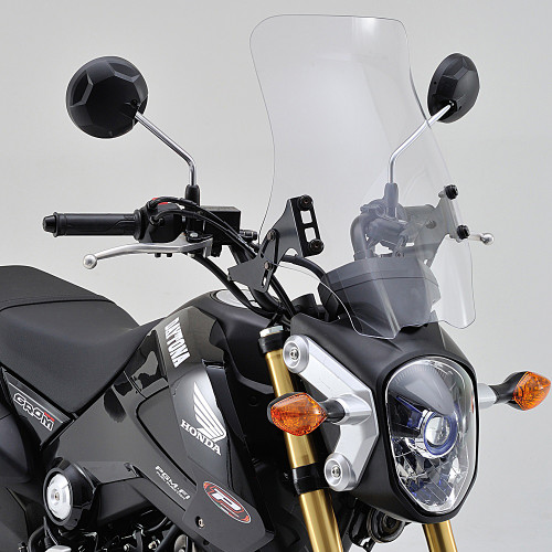 Windshield, RS Clear, Honda Grom 13-15