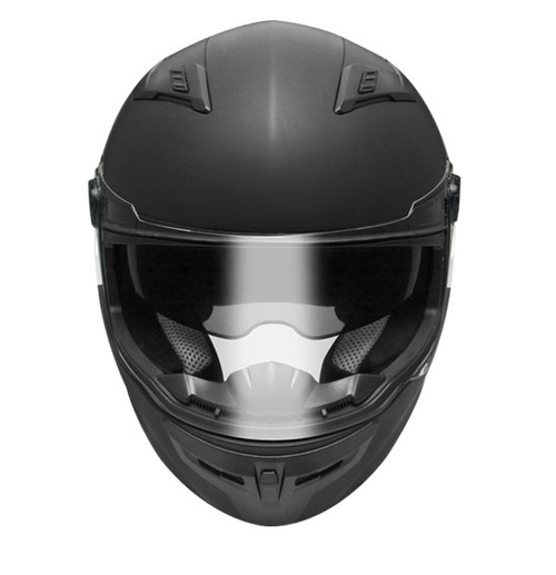 FFM Streetpro R Full Face Helmet, with Internal Tinted Visor, Matt Black