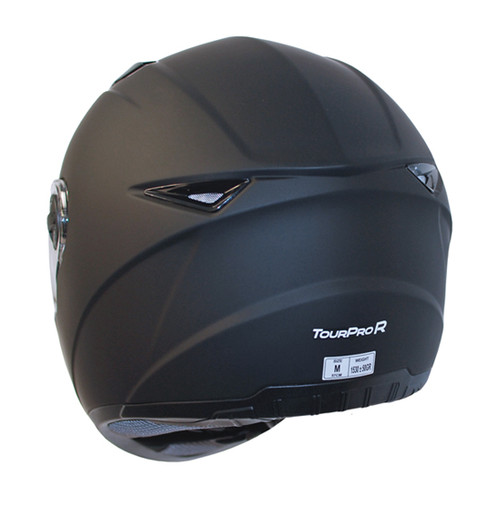 FFM Tourpro R Full Face Motorcycle Helmet, Gloss Black