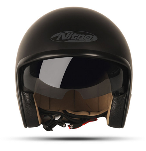 Nitro X581 Cruiser, UNO Satin Black, Open Face Helmet, CLOSEOUT SALE!