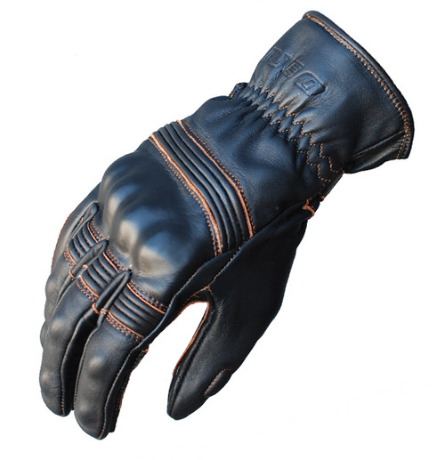 Cafe Motorcycle Glove - Leather Classic, Knuckle Armour, Brown - SPECIAL!