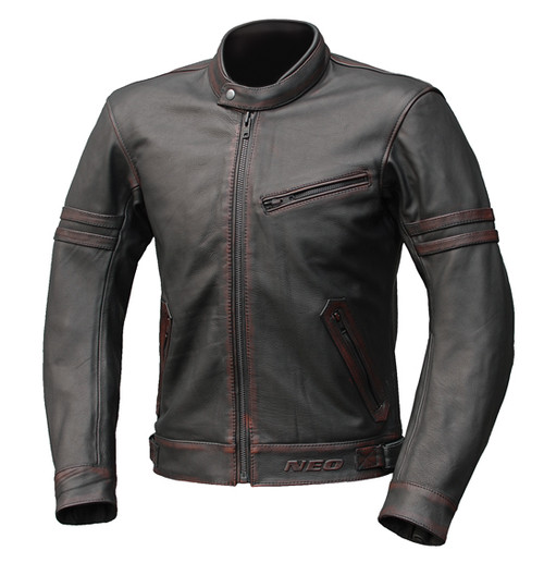 NEO Cafe Mugello Motorcycle Leather Jacket - Classic/Cafe Racer