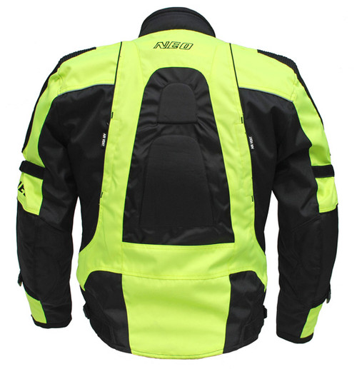 NEO Extreme Motorcycle Jacket - Sport Road, Black/Fluoro