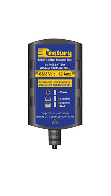 Century  CC6121.2 Battery Charger & Maintainer, 6 Volt & 12 Volt 8 Stage, 1.2 Amp