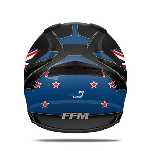 FFM MotoTech 1 Helmet - Adult MX, Patriot Black/Gun/Blue - CLOSEOUT SALE