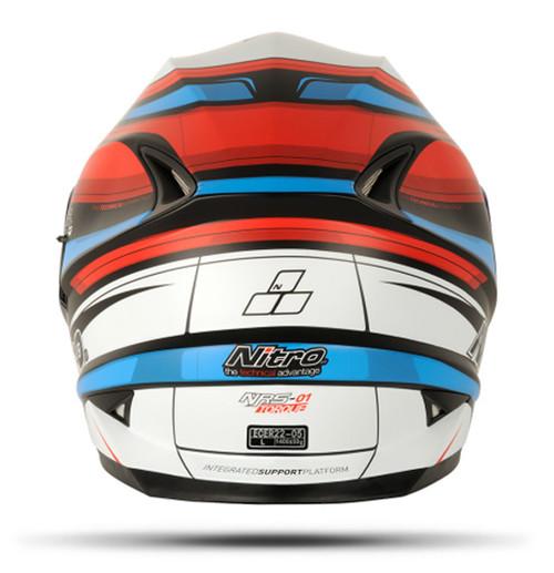 Nitro NRS-01 TORQUE DVS, Full Face Helmet, Red/Blue - CLOSEOUT SALE!