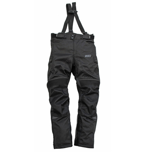 NEO Master Motorcycle Trousers / Pants with Braces, Black