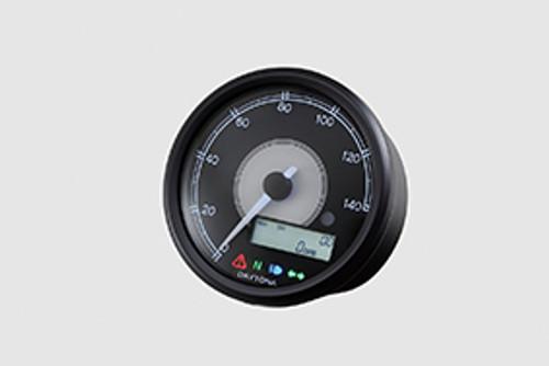 Daytona Velona80 Speedometer & Tachometer, 80mm, 140 kmh, Black, White LED