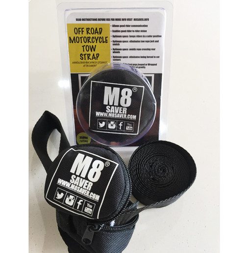 M8saver Off-Road Motorcycle Tow Strap (Mate Saver) FREE SHIPPING NZ!