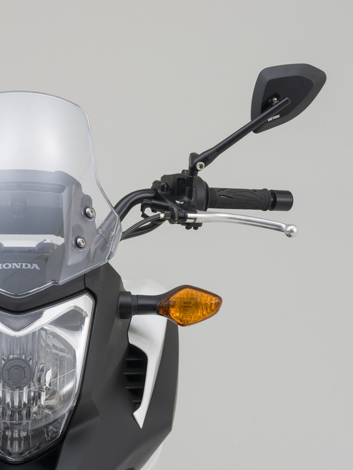 Daytona Motorcycle D-Mirror, Black, M10×P1.25, CLEARANCE CLOSE OUT SALE!