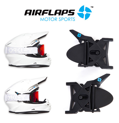 AirFlaps is a simple yet effective system that solves lack of ventilation in the helmet and fogging of goggles, by way of flaps that are attached to the helmet that allow the goggle to lift off the face to let air flow in.