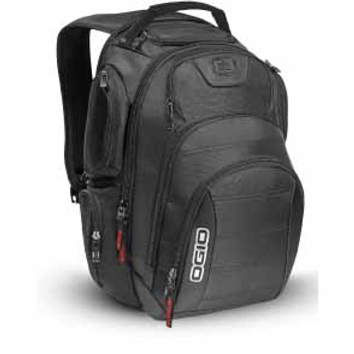 The Ogio Rev Laptop Back Pack is a fully-loaded pack that can handle any situation. Strategically placed compartments and pockets keep all the most essential gear right at your fingertips.