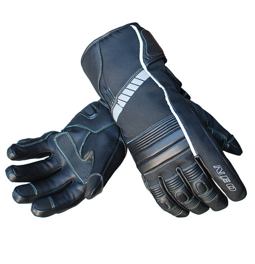 Tempest Motorcycle Glove - Winter Touring, Cowhide Leather, Black