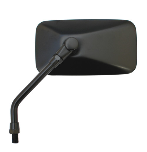 Mirror - Universal Rectangular, Custom Style, 10mm, Black, 1pc