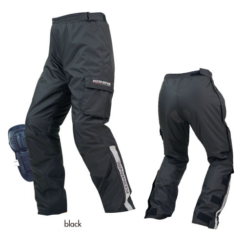 Komine PK-916 Protection Over Motorcycle Pants, Trousers Pants, Black