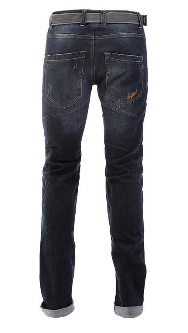 PMJ Motorcycle Denim Jeans Legend, Man, Italy, TWARON® Ballistic Fabric, Slim fit, Cafe Racer Style,Mid Blue