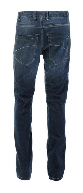 PMJ Motorcycle Denim Jeans Rider, Man, Italy, TWARON® Ballistic Fabric, Stone Washed, Slim Fit, Mid Blue