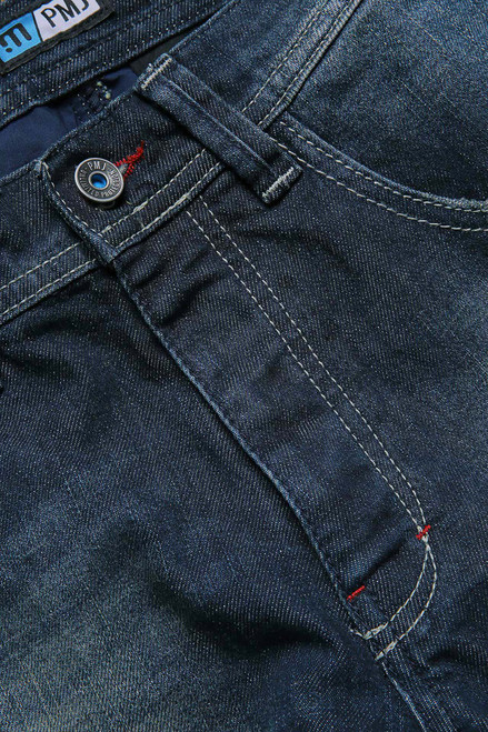 PMJ Motorcycle Denim Jeans Vegas, Man, Italy, TWARON® Ballistic Fabric, Dark Blue