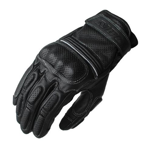 Interceptor Motorcycle Leather Glove - Leather Sport/Urban, Black