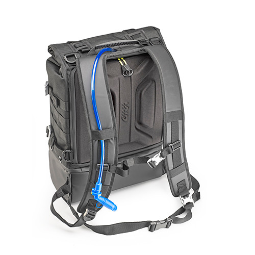 GRT711 Waterproof Backpack 25 L, Black with Yellow Interior, Boot Bag