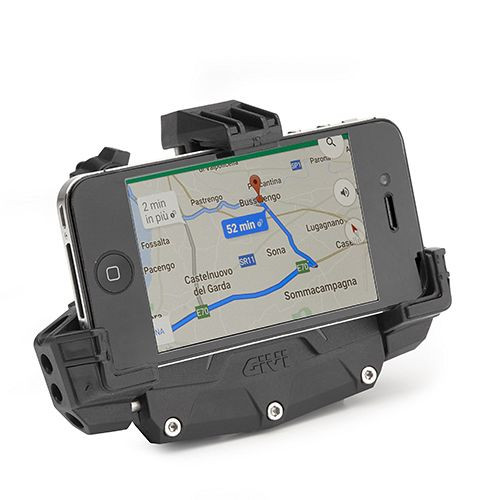 Givi S920 Smartphone GPS Radar Detector Holder Clip, Mobile Phone Holder for Motorcycles, Medium or Large