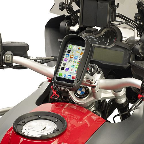 Givi S954B GPS & Smartphone Motorcycle Holders, Phone Holder for Models up to 5 Inches, Includes Kit