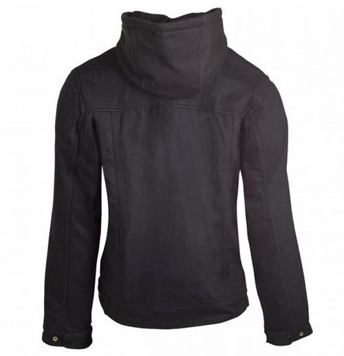 Bull-It Carbon 17 SR6 Motorcycle Riding Hooded Jacket, Black Denim - LADIES  - Clearance Sale!