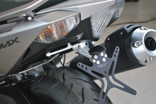 Tail Tidy, CNC Machined , Black, Yamaha TMAX 530 (12-16)