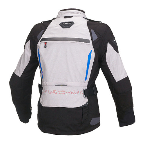 Macna Impact Pro Jacket - Women, Waterproof, Black/Light Grey Motorcycle Jacket - Ladies Touring