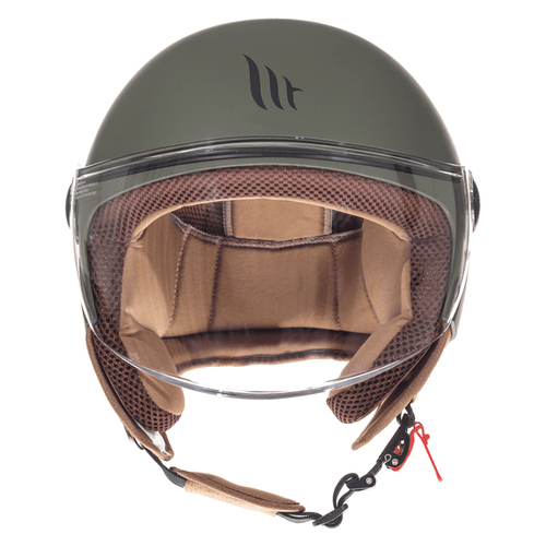 MT Jet Street Motorcycle / Scooter Open Face Helmet, Solid Matt Green
