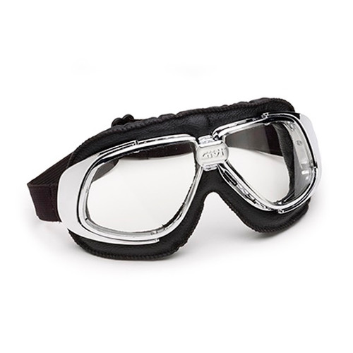 GIVI Motorcycle Retro Goggle - Classic Flying Goggles, Cafe Racer