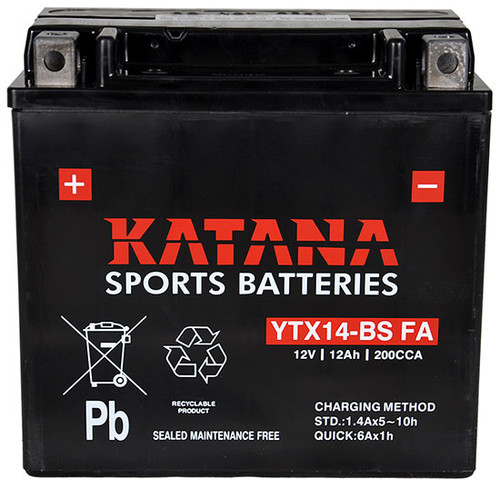 YTX14-BS FA Sports Battery (YTX14BS FA)