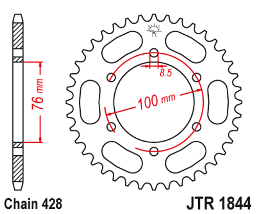 Yamaha YZF-R125 MT125 Motorcycle Rear Sprocket JT 1844-48
