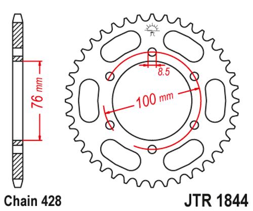 Yamaha YZF-R125 MT125 Motorcycle Rear Sprocket JT 1844-48