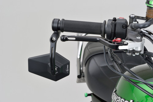 "Daytona Motorcycle Aluminium ""D-Mirror-4"" Bar End Mirror, Hexagon type, Black"